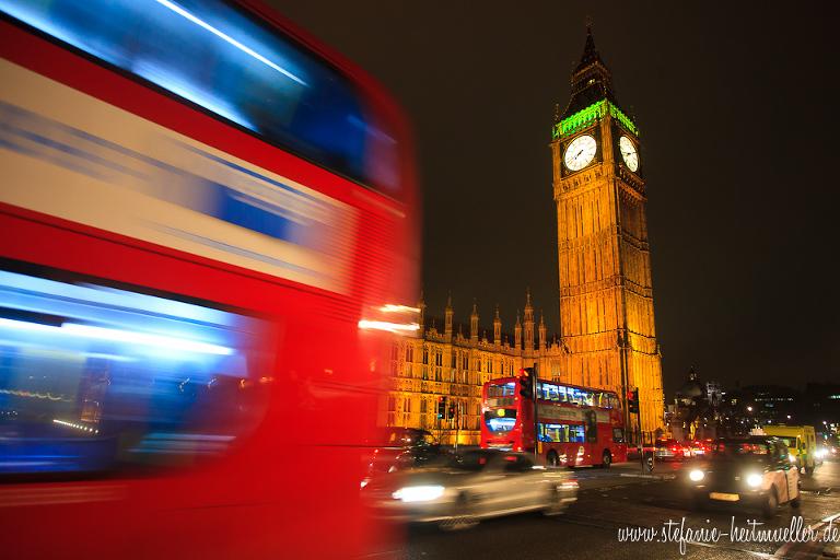 Big Ben, London, Bus