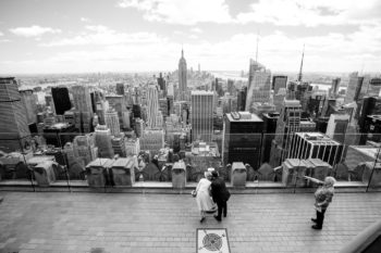 Hochzeitsfotos auf dem Rockefeller Center in New York Elopement