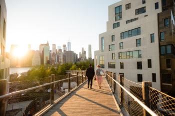 Brautpaar in Brooklyn New York