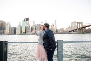 Hochzeitsfotograf New York Brautpaar an der Brooklyn Bridge