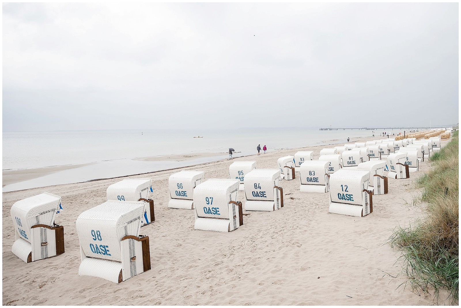 Der Strand von Scharbeutz an der Ostsee.
